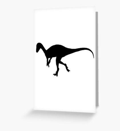 Dinosaur eoraptor Greeting Card