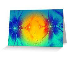 Flowers Abstract- Wall Art+Products Design Greeting Card