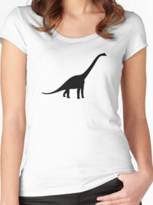 Dinosaur Longneck Women's Fitted Scoop T-Shirt