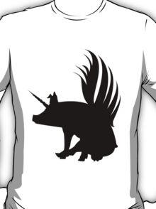 Flying Pig Unicorn Silhouette   T-Shirt