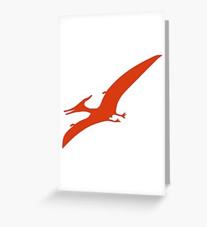 Dinosaur Pterosaurier Greeting Card