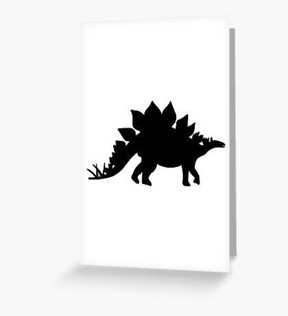 Dinosaur Stegosaurus Greeting Card