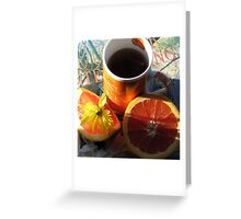 The First Cup Greeting Card