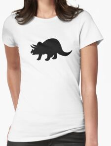 Dinosaur triceratops Womens Fitted T-Shirt