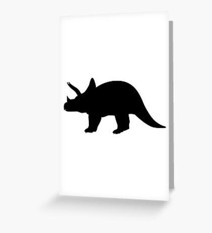 Dinosaur triceratops Greeting Card