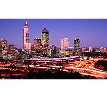 Perth at dusk Photographic Print