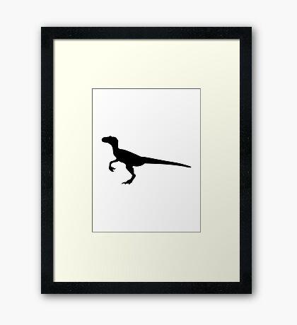 Dinosaur velociraptor Framed Print