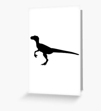 Dinosaur velociraptor Greeting Card