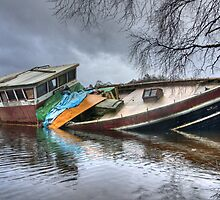 A Boat in Loch Ness by Dan Squires