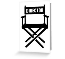 Director's chair Greeting Card