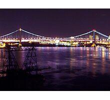 Ben Franklin Bridge (night) Photographic Print