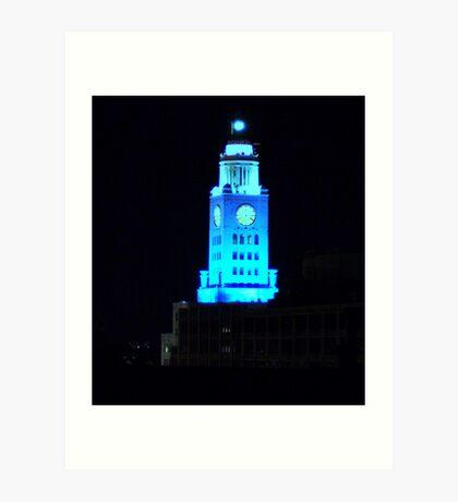 The Blue Building Art Print
