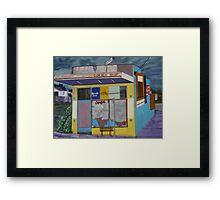 Corner Shop Framed Print