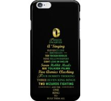 Caroling in Middle Earth iPhone Case/Skin