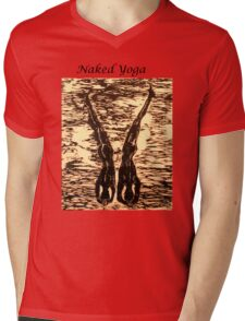 Naked Yoga Mens V-Neck T-Shirt