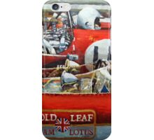 1969 Spain GP Lotus 49 Hill  Ferrari 312 Amon  Lotus 49B Rindt  iPhone Case/Skin
