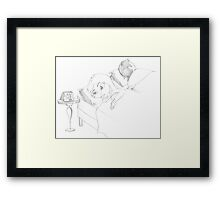 PENCIL ART - Never Go To Bed Mad Framed Print