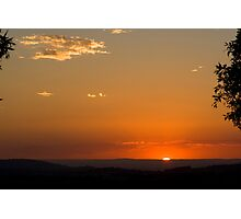 Sunset over Berry Photographic Print