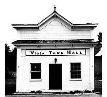 Viola Town Hall Photographic Print