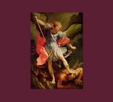 St. Michael slays a demon. Unisex T-Shirt