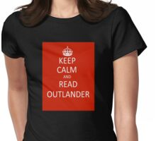 Keep Calm and Read Outlander Womens Fitted T-Shirt