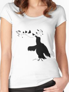 Smart Bird Women's Fitted Scoop T-Shirt