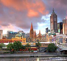 Melbourne Sunset by Clinton Barnes