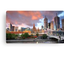 Melbourne Sunset Canvas Print