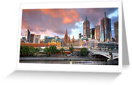Melbourne Sunset by Clinton Barnes