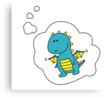 Imagine Dragons - Blue Cartoon Version! Canvas Print