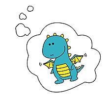 Imagine Dragons - Blue Cartoon Version! Photographic Print