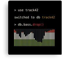 db.bass.drop() - DJing in mongoDB Canvas Print