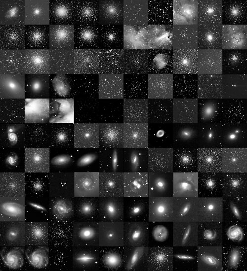 Messier Image Map by Paul Gitto