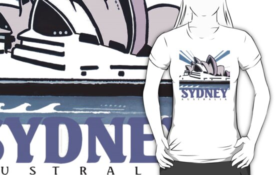 Opera House Sydney T-Shirt by MrCreator