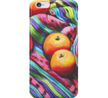 Fruit on Striped Cloth iPhone Case/Skin