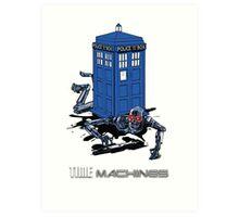 Two Time Machines | The TARDIS & the Terminator Art Print