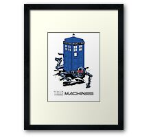 Two Time Machines | The TARDIS & the Terminator Framed Print