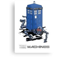 Two Time Machines | The TARDIS & the Terminator Metal Print