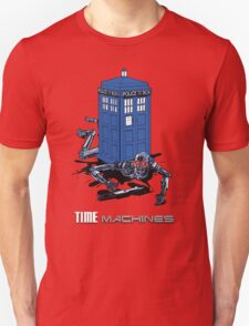 Two Time Machines | The TARDIS & the Terminator T-Shirt