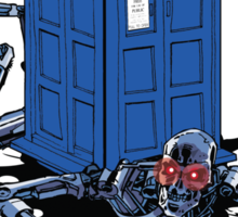 Two Time Machines | The TARDIS & the Terminator Sticker