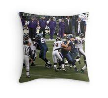 Defense vs Offense Throw Pillow