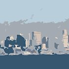 Seattle Skyline by pinklilypress