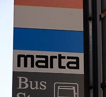 MARTA Bus Stop by kylehess10