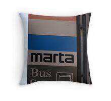 MARTA Bus Stop Throw Pillow
