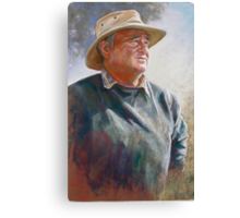 Portrait of Alan Coulson Canvas Print