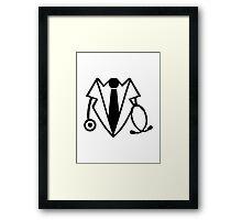 Doctor suit tuxedo Framed Print