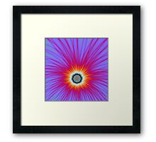 Explosion in Pink Blue and Red Framed Print