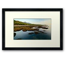 Coconut beach sunrise Framed Print