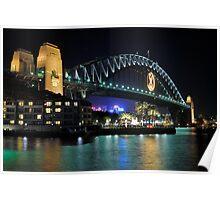 Sydney Harbour Bridge @ Night  6 - 1 - 2008 Poster