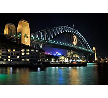Sydney Harbour Bridge @ Night  6 - 1 - 2008 Photographic Print